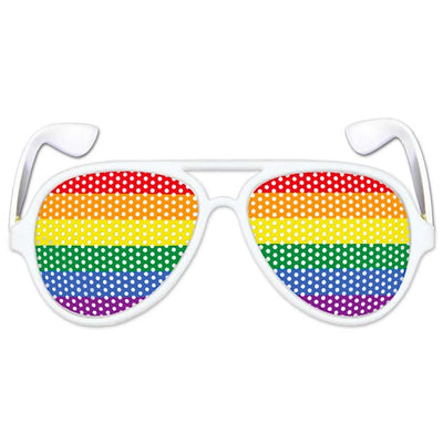 Gay Pride Rainbow Pinhole Glasses