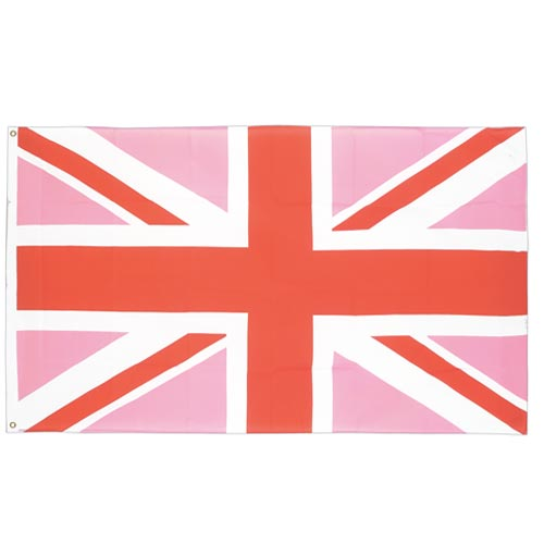 Gay Pride Pink Union Jack Flag (3ft x 5ft)