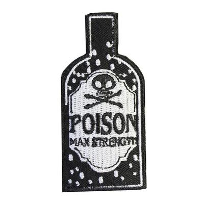 Poison Bottle Embroidered Iron-On Festival Patch