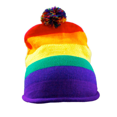 Gay Pride Rainbow Knitted Hat