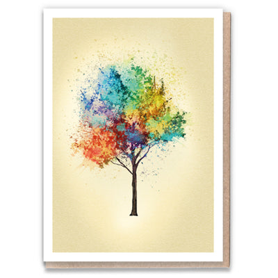 Rainbow Ash Tree - Gay Greetings Card