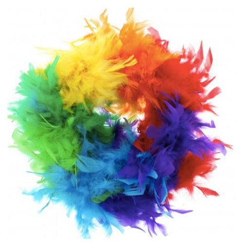Gay Pride Rainbow Feather Boa