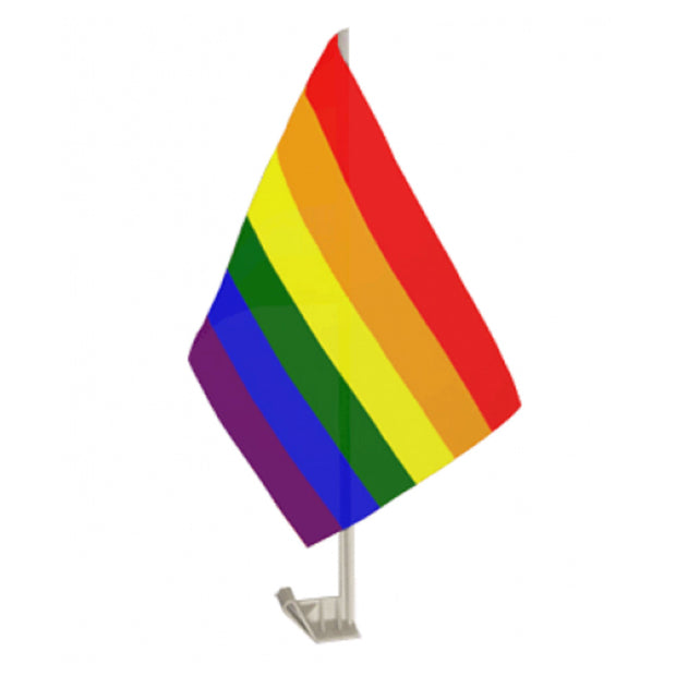 Gay Pride Rainbow Car Flag