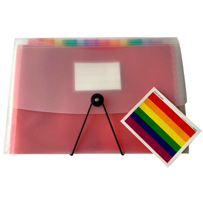 Gay Pride Rainbow Coloured Tabs Expanding Document File
