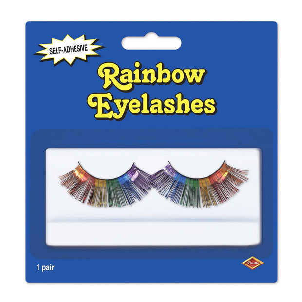 Gay Pride Rainbow Metallic Self-Adhesive False Eye Lashes