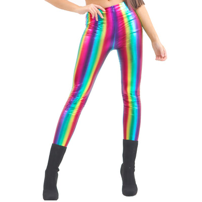 Gay Pride Rainbow Metallic Unisex Leggings