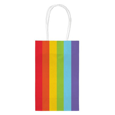 Gay Pride Rainbow Paper Party Bags (10 Bags)