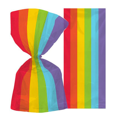 Gay Pride Rainbow Plastic Treat Bags (25 Bags)