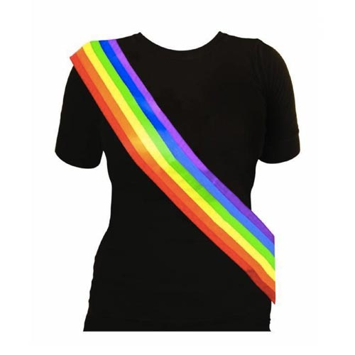 Gay Pride Rainbow Sash