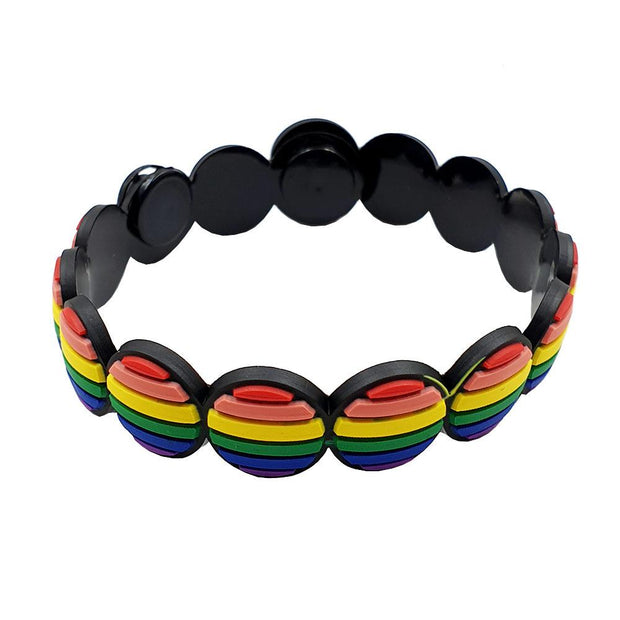Gay Pride Rainbow Adjustable Silicone Bracelet