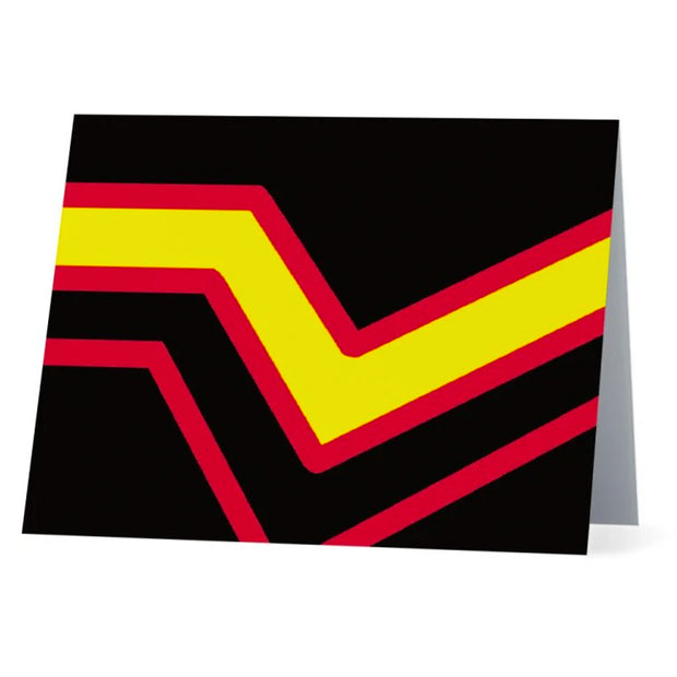 Flag Card Rubber/Latex Pride Flag - Greetings Card