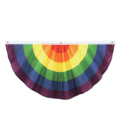 Gay Pride Rainbow Flag Cloth Large 4ft Semi Circle Bunting (54991)