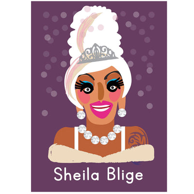 Life's A Drag - Sheila Blige Greetings Card