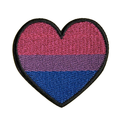 Bisexual Heart Embroidered Iron-On Patch (Small)