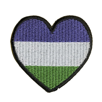 Genderqueer Heart Embroidered Iron-On Patch (Small)