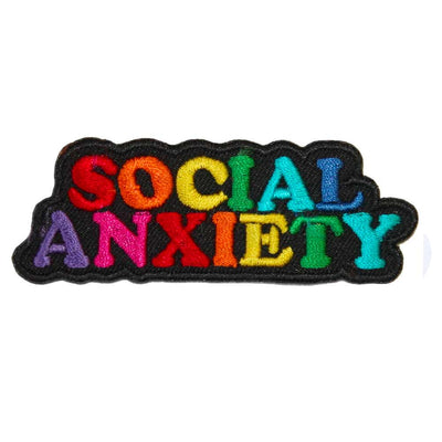 Social Anxiety Embroidered Iron-On Patch
