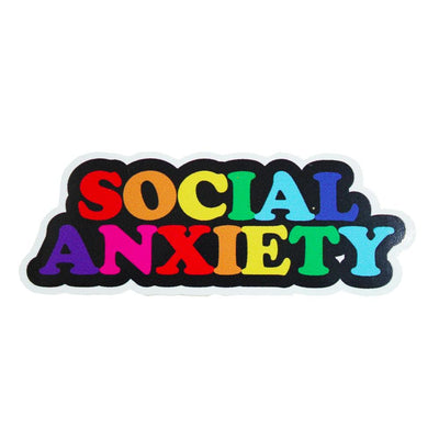 Social Anxiety Vinyl Waterproof Sticker