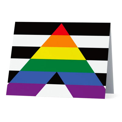 Flag Card Straight Ally Pride Flag - Greetings Card
