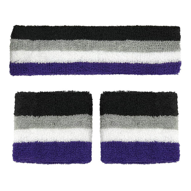 Asexual Headband & 2 Sweatbands Set