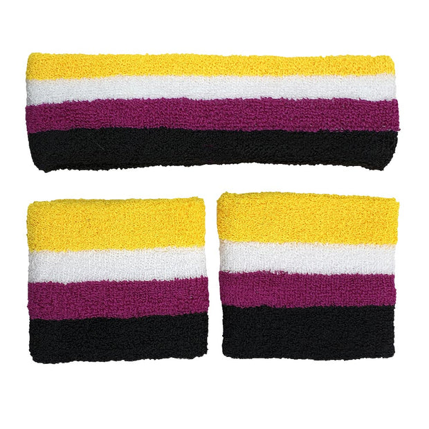 Non Binary Headband & 2 Sweatbands Set