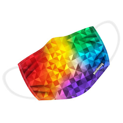 Gay Pride Rainbow Kaleidoscope Twin Layer Face Mask