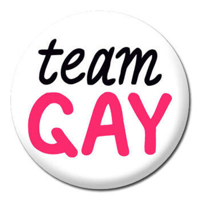 Team Gay Small Pin Badge