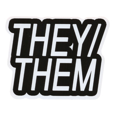Pronoun They/Them Vinyl Sticker