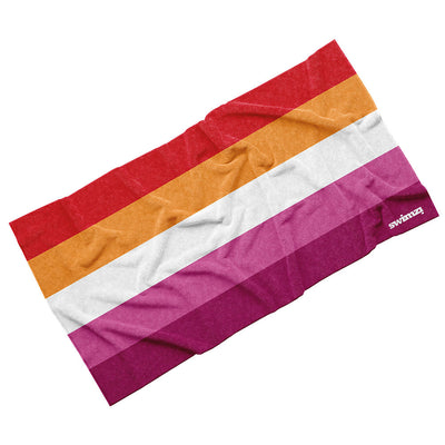 Luxury Cotton Towel - Lesbian Pride (5 Colour Sunset)