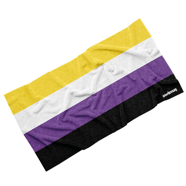 Luxury Cotton Towel - Non Binary Pride