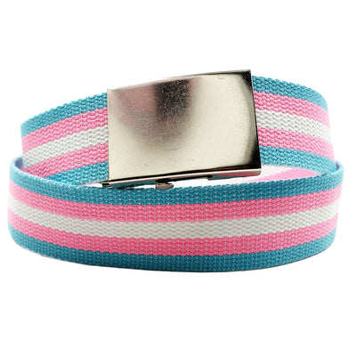 Transgender Flag Canvas Belt