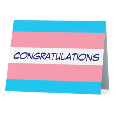 Flag Card Transgender Congratulations Pride Flag - Greetings Card