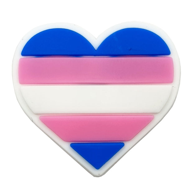 Transgender Flag Silicone Heart Pin Badge