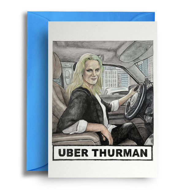 Uber Thurman - Greetings Card