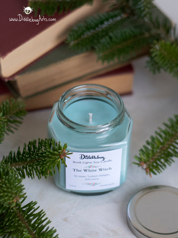 pale blue candle white witch chronicles of narnia