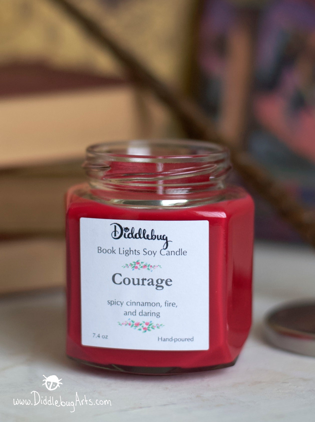 red soy candle inspired by Harry Potter gryffindor house