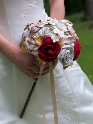 Book page harry potter wedding bouquet