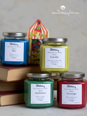 four candles based on four harry potter houses