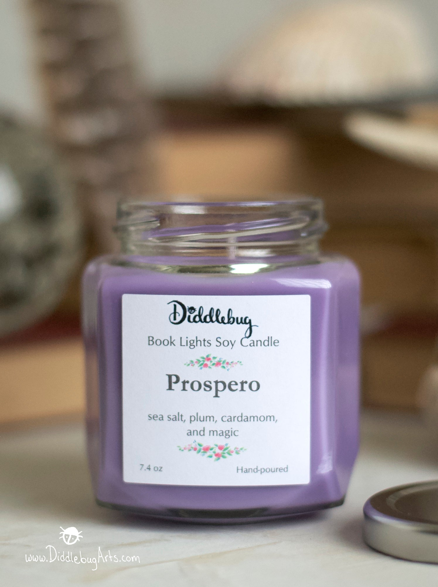 violet candle based on Shakespeares the Tempest
