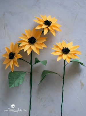 Small Crepe Paper Sunflowers