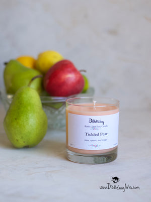 Harry Potter themed candle with pear scent