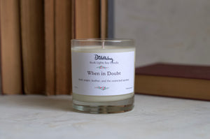 Library scented candle