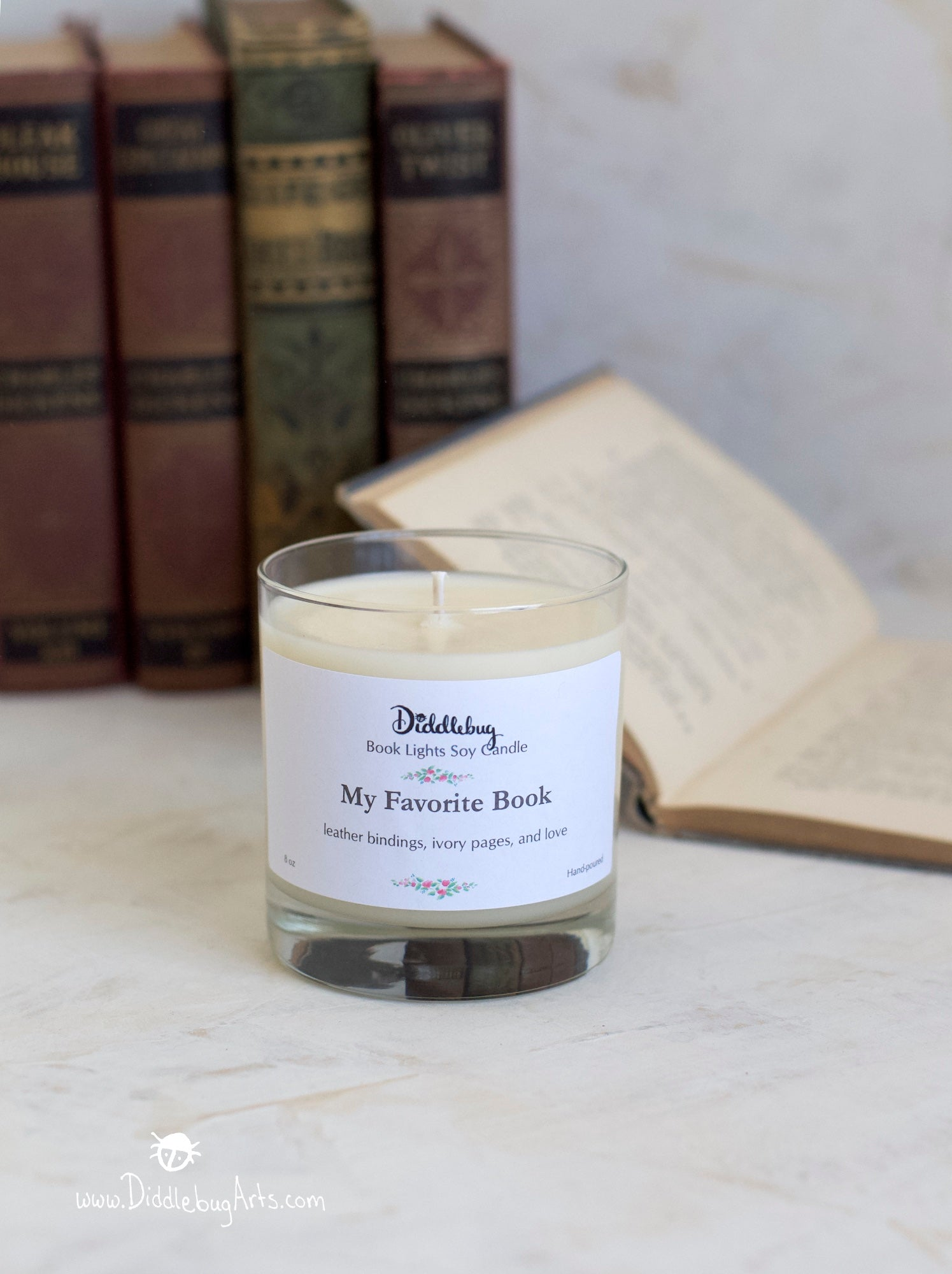 My Favorite Book Hand-Poured Soy Glass Jar Candle