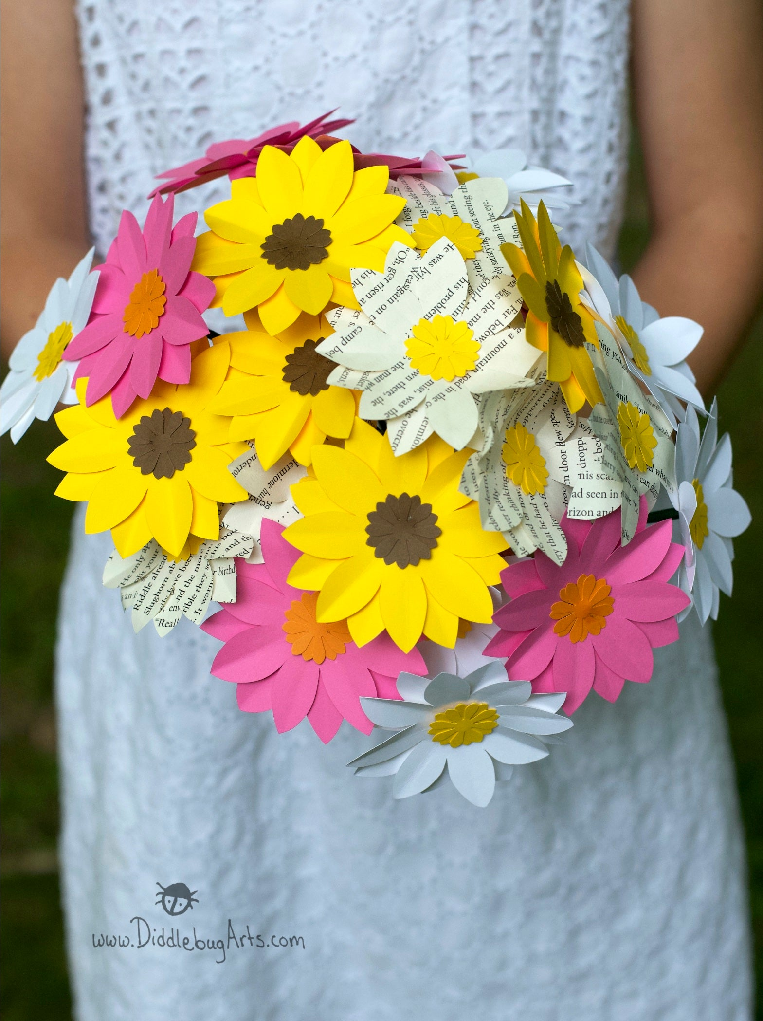 Mixed Daisy Bouquet with Two Dozen Daisies