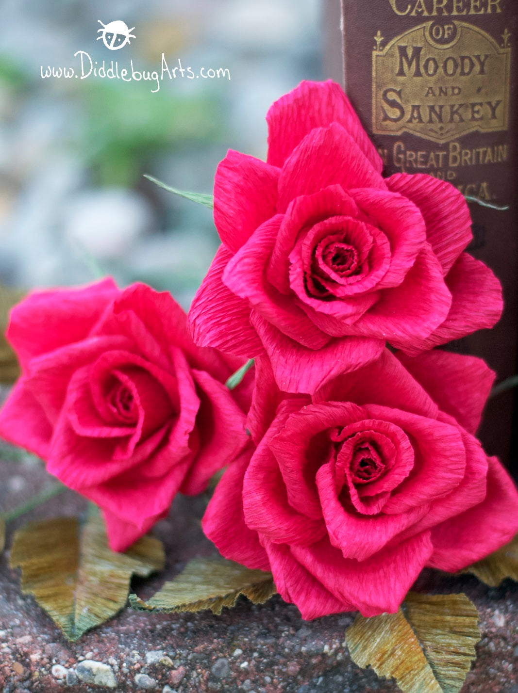Crepe Paper Hybrid Tea Rose Single Stem