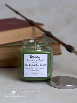 The Forbidden Forest - 7.4 oz Hand-Poured Soy Hexagon Jar Candle