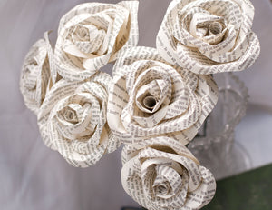 roses made of book pages