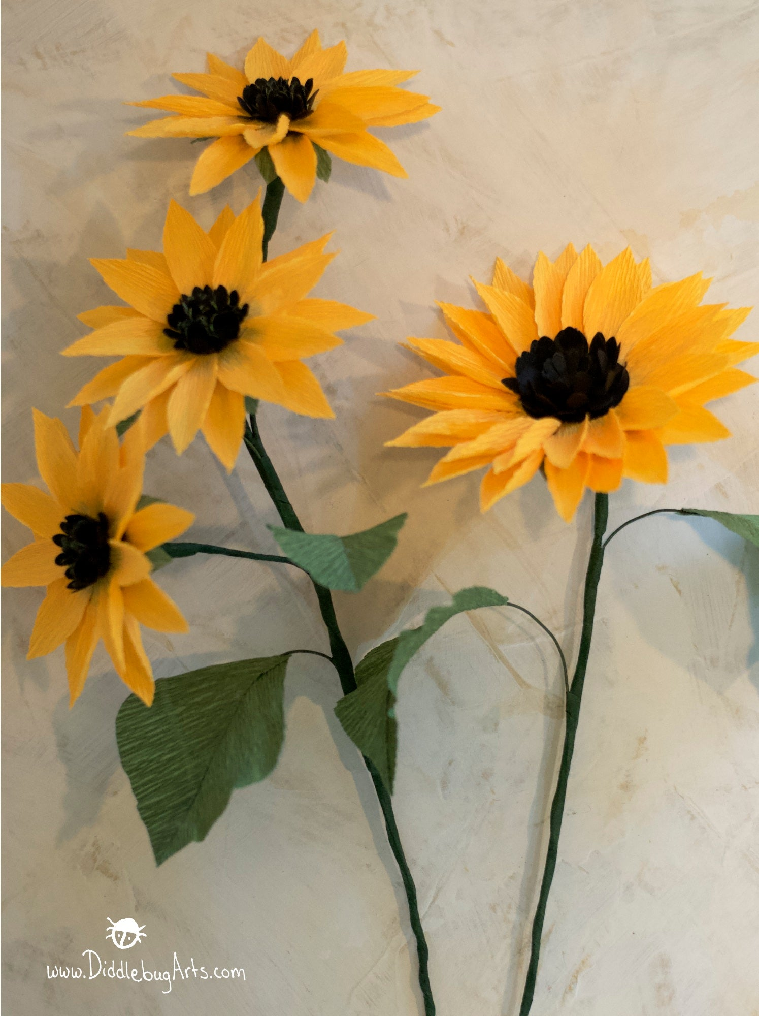 Medium Crepe Paper Sunflower