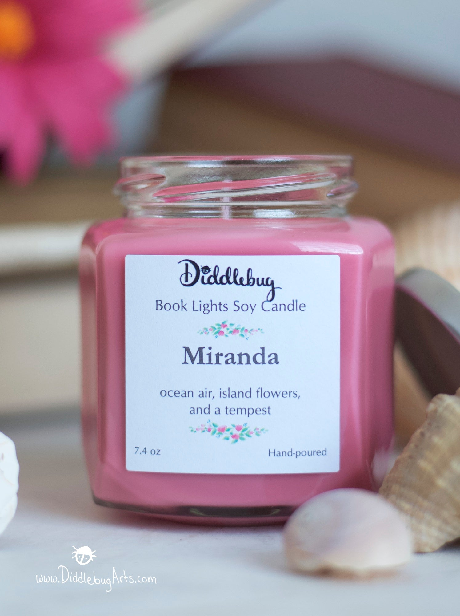 pink candle based on Shakespeare the Tempest