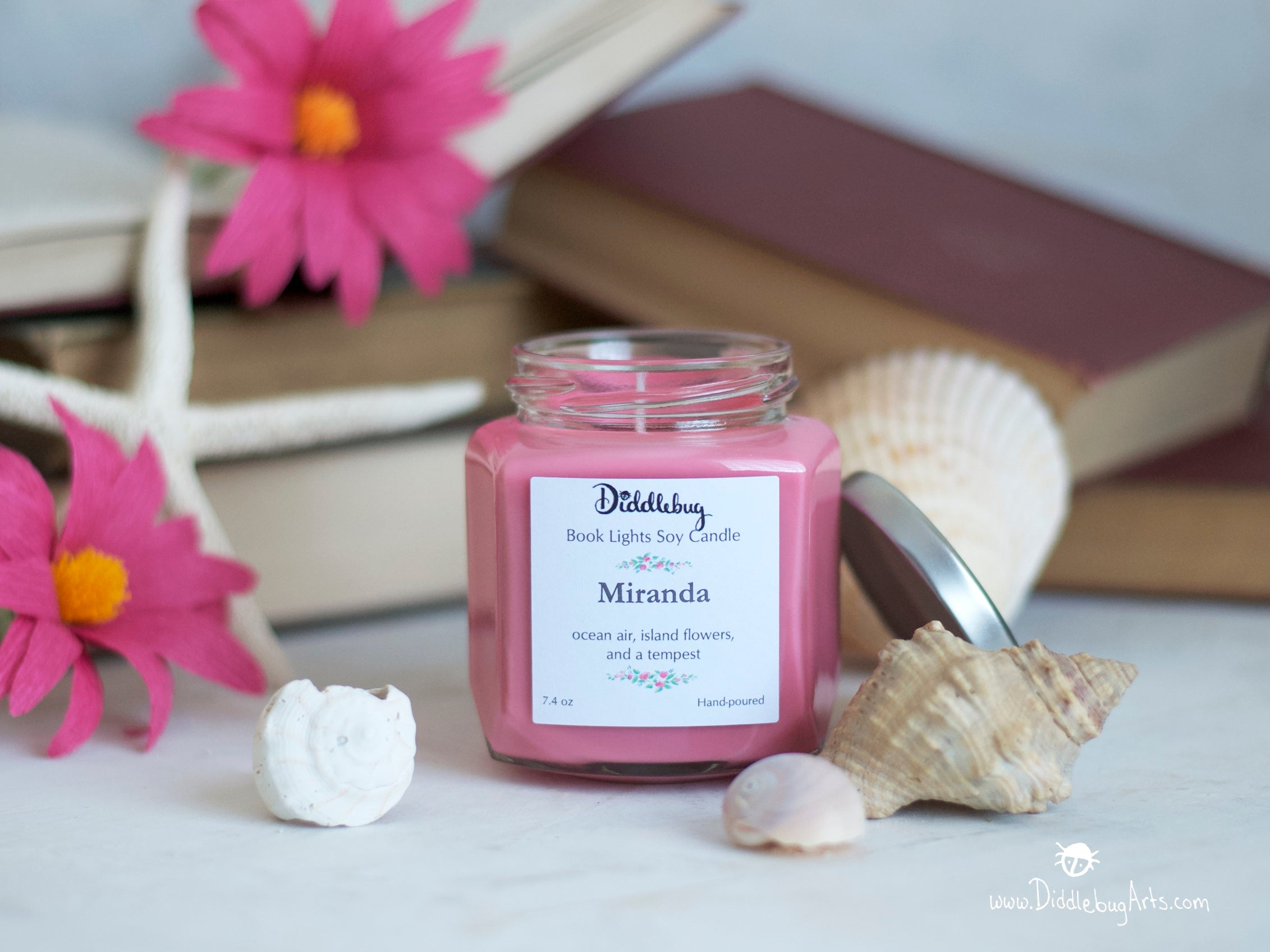 pink candle inspired by The Tempest by Shakespeare