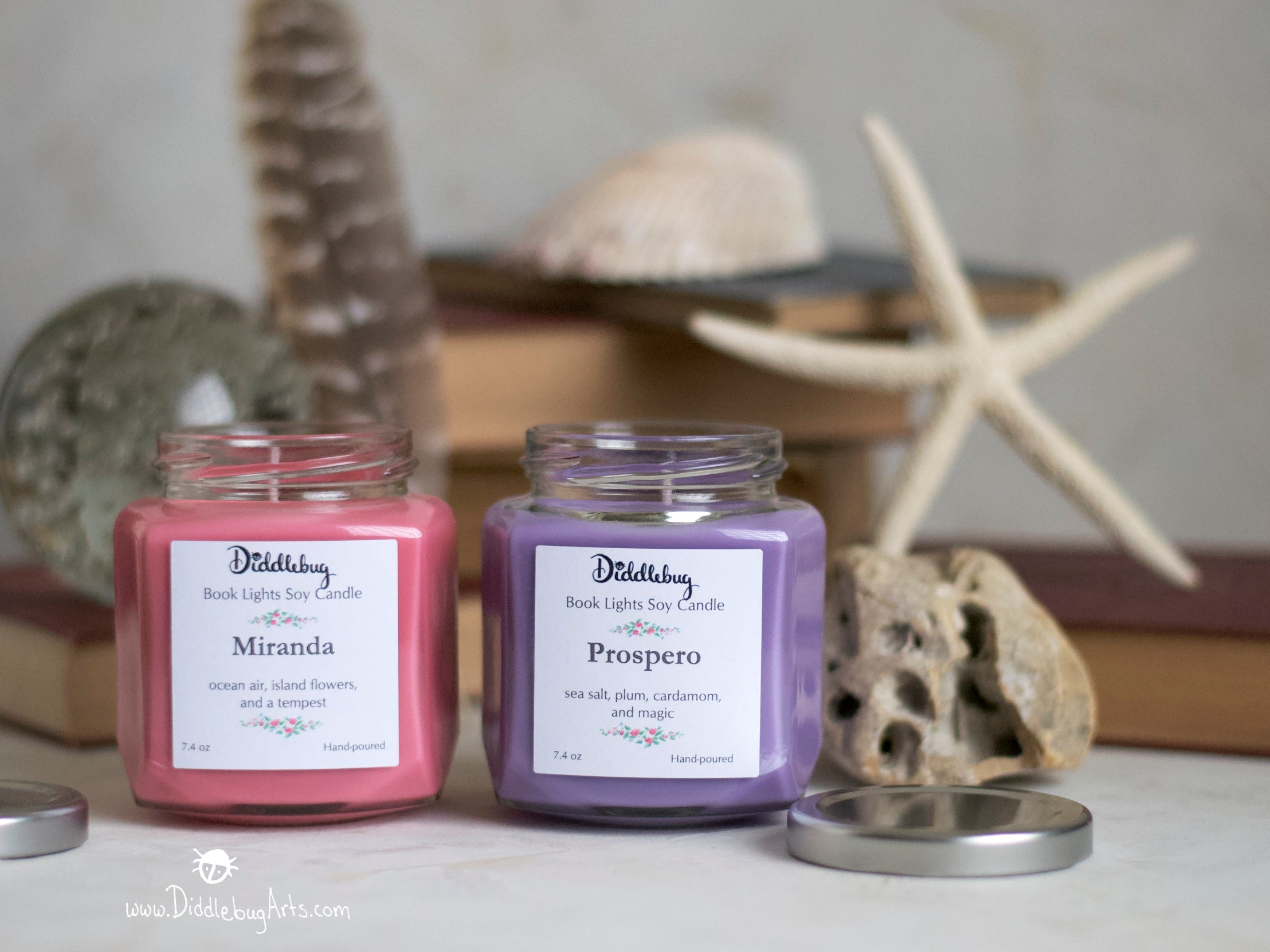 candles based on miranda and prospero from The Tempest